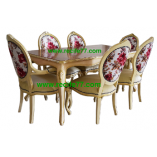 Dining Table set Baroque 01 STGB Finish